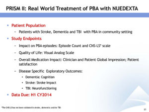 PBA treatment Nuedexta