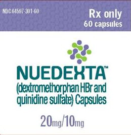 Nuedexta drug classification dextomethorphan and quinidine sulfate